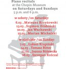 Weekendowe koncerty w Muzeum Chopina